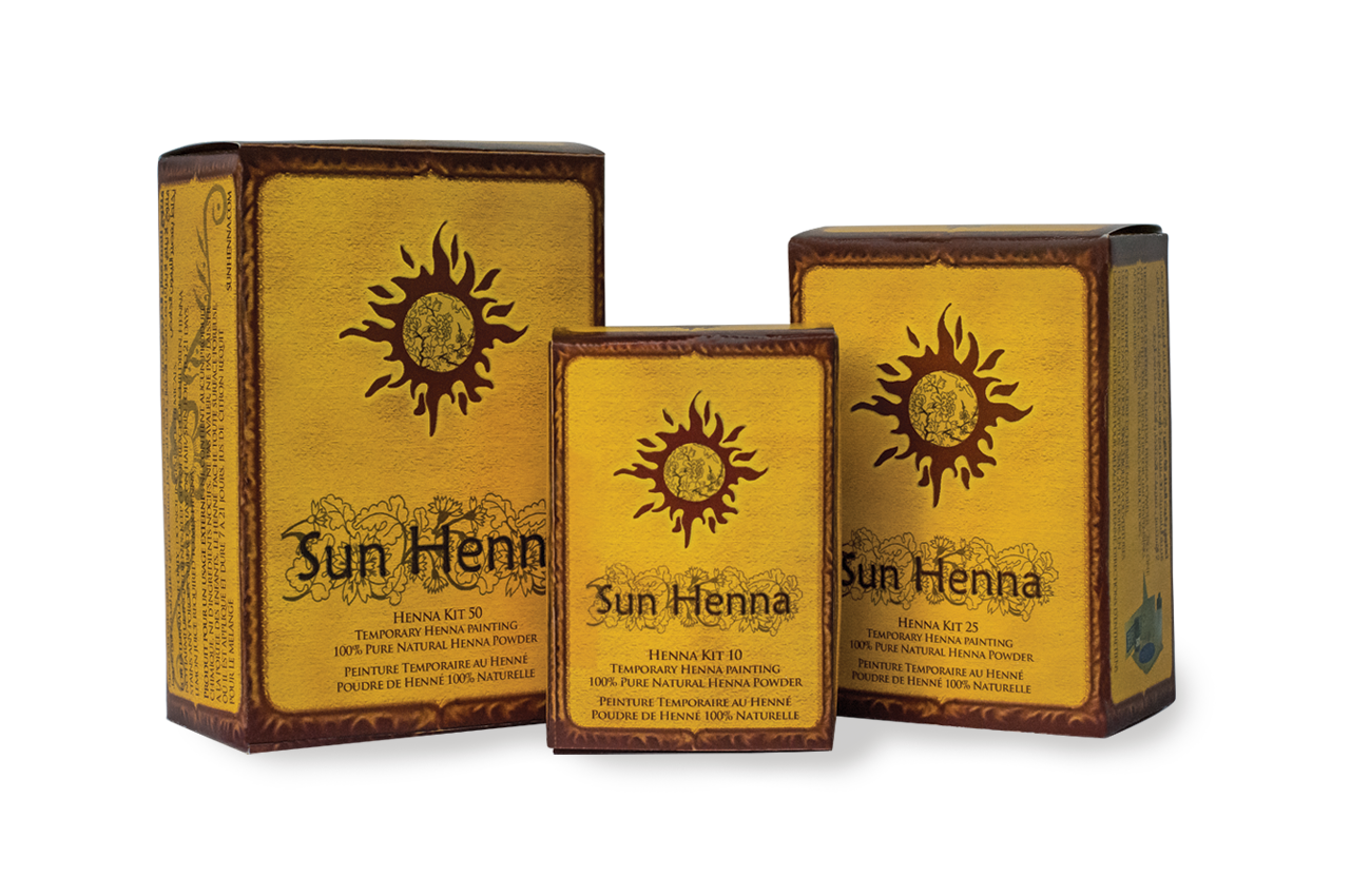 Sun Henna Kit 10, 25 & 50